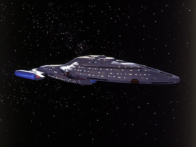 The team decided to replicate the USS Voyager (pictured in the series) because one of the study's co-authors Jonas Hoecht is a huge Star Trek fan