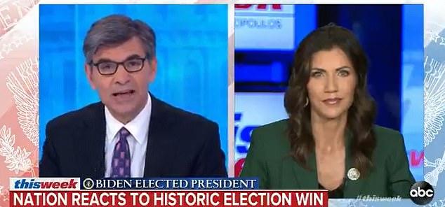 South Dakota Gov. Kristi Noem claims election results are 'premature'