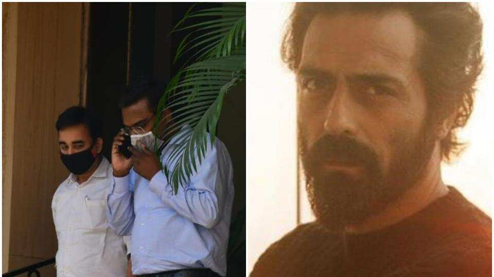 Arjun Rampal summoned by NCB, see pictures from Monday's raid on his residence