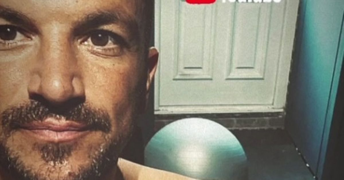 Peter Andre shares sweaty workout pics and boasts he's 'feeling great'