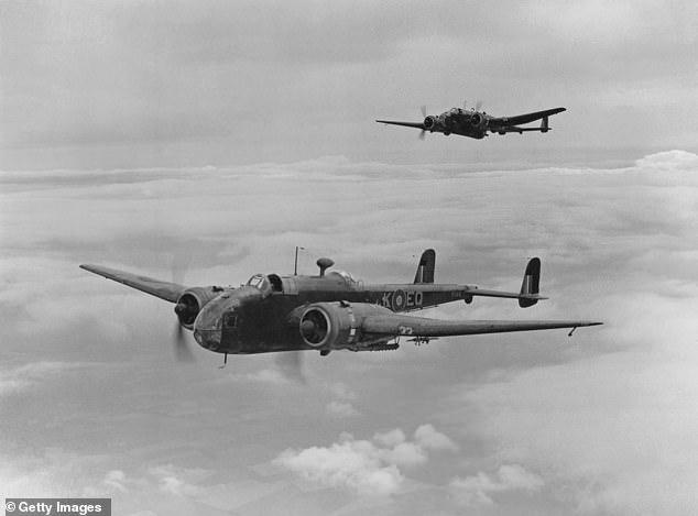 A Hampden bomber like the aircraft flown by John's father Wing Commander Joseph Watts