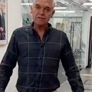 Phillip Schofield parades around ITV Studios in 'social distancing' skirt