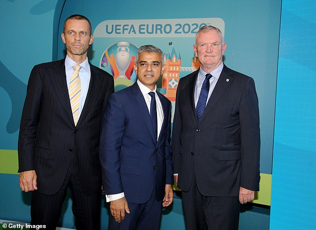 Clarke has said he has been asked to stay on as FIFA vice-president by Aleksander Ceferin (left)
