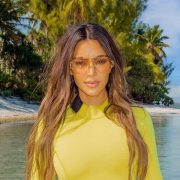 Kim Kardashian baffles fans with odd swimsuit shot as she shows off curvy figure
