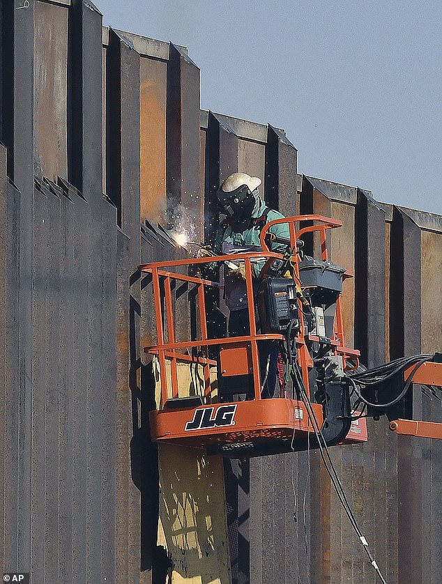 Biden will, however, leave all 400 miles of already erected wall in place, which cost $15 billion