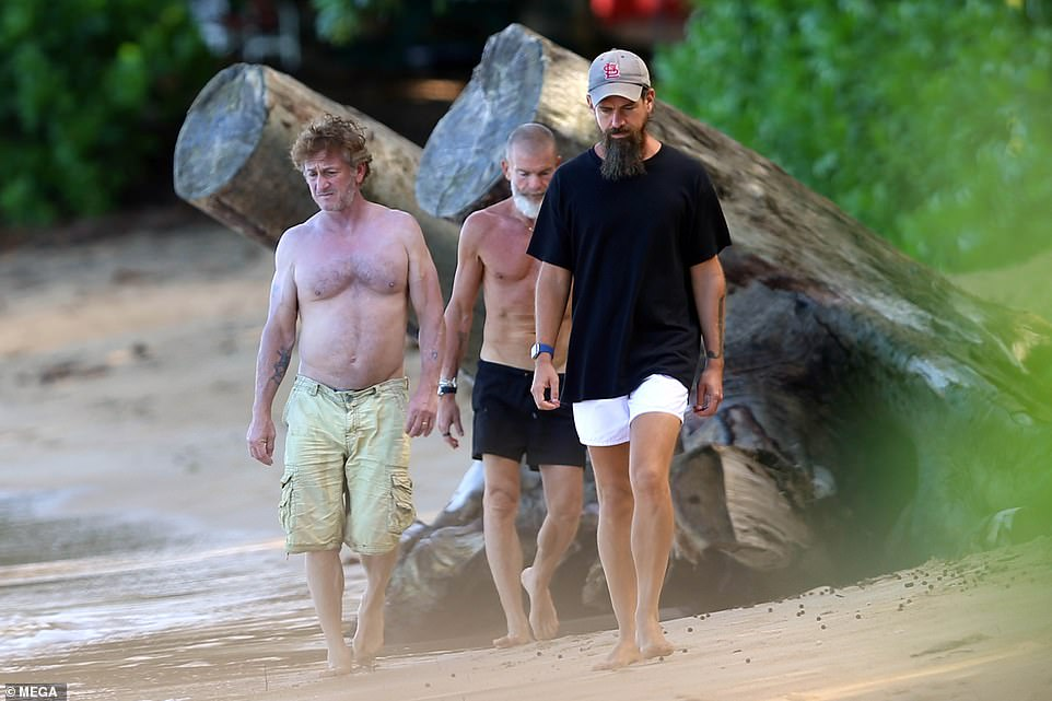 The two men were joined by Israeli venture capitalist Vivi Nevo, 59, center, pictures obtained by DailyMail.com show