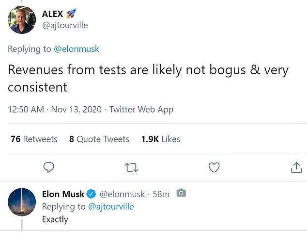 Musk, 49, then responded to a series of comments from followers where he revealed he was suffering 'typical cold' symptoms and warned 'if it's happening to me, it's happening to others'
