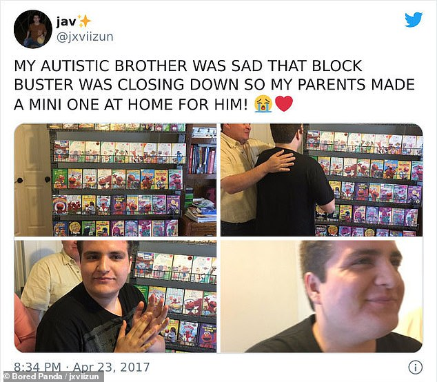 A man from the US revealed how his parents recreated a Blockbuster store at home because his autistic brother was upset the chain had closed