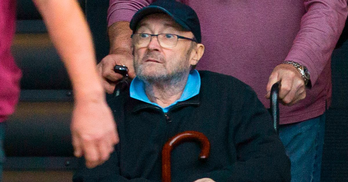 Phil Collins arrives to Genesis rehearsal in wheelchair amid spat with ex-wife