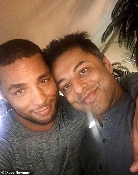 Since Anni's death Mr Dewani has found love with Brazilian photographer Gledison Lopez Martins (pictured together)