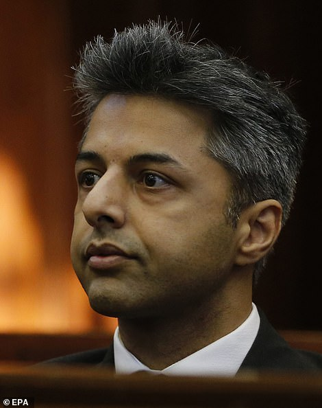 Mr Dewani (pictured during his trial) was cleared of any involvement in Anni's murder during a court case in South Africa - four years after her death