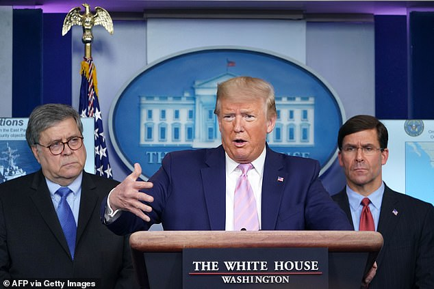 Tensions between President Trump (center) and Mark Esper (right) allegedly sparked months before his dismissal