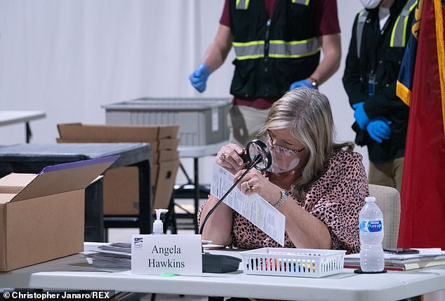 Ballots counters and observers in North Carolina continued counting absentee ballots