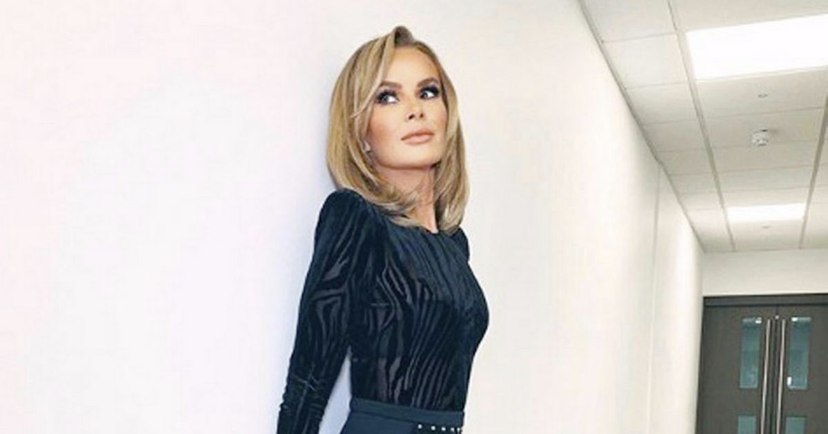Amanda Holden oozes class as she shows off age-defying body in elegant frock