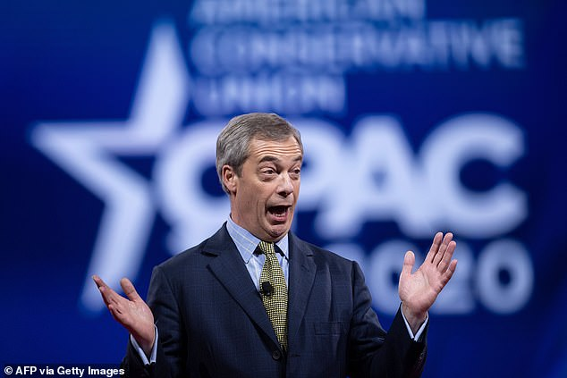 Mr Farage has insisted the exit of Mr Johnson's top aide from Downing Street means a 'Brexit sell-out' is looming