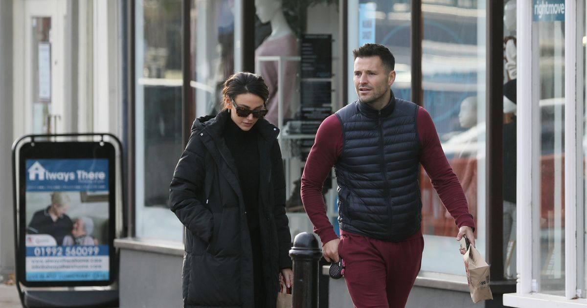Michelle Keegan and Mark Wright take dogs out on daily stroll amid lockown