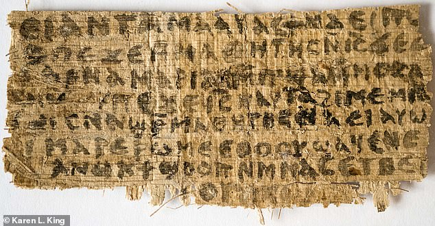 Scholars of all denominations, and none, were almost as sceptical. One said that the script on the papyrus (above) looked like 21st Century handwriting