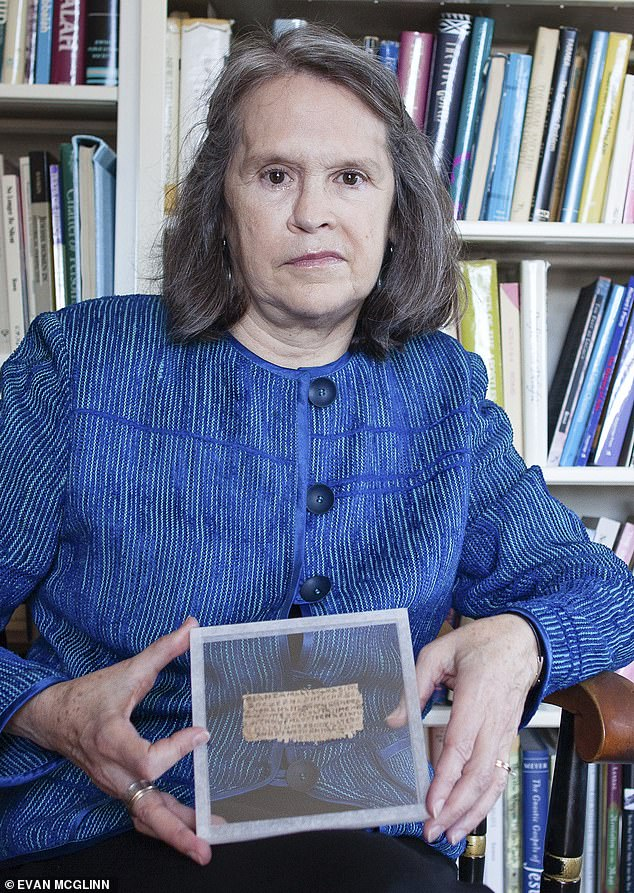 Dr Karen King (above) stood her ground. She was adamant that the papyrus was genuine: after all, it had been authenticated by experts