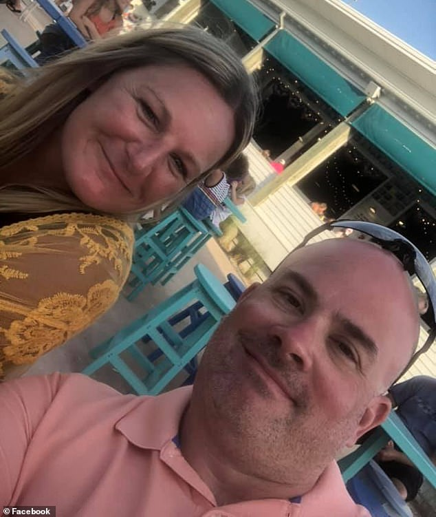 According to the Daily Beast, the main organizer was local parent Cory Coates, pictured left with her husband Aaron, who posted about the dance on Facebook last week