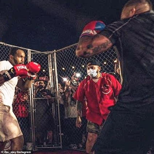 Roman's Instagram showed amateur fights punching it out inside cages while he looked on