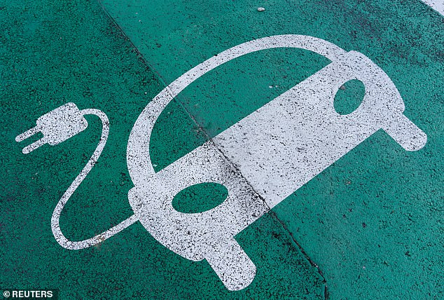 The sale of electric vehicles in the UK have rocketed by nearly 170 per cent in the UK this year (file photo)