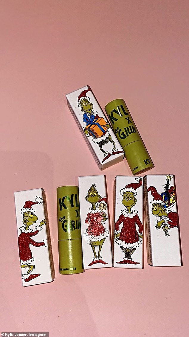 Fun packaging too: The boxes have photos of the scheming Grinch in a red Santa suit