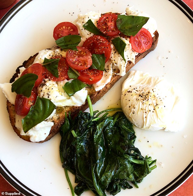 Many marketed-as-healthy breakfast choices are the opposite - including milky coffees, smoothies and Turkish bread. You should opt for wholegrain toast with veggies (pictured)