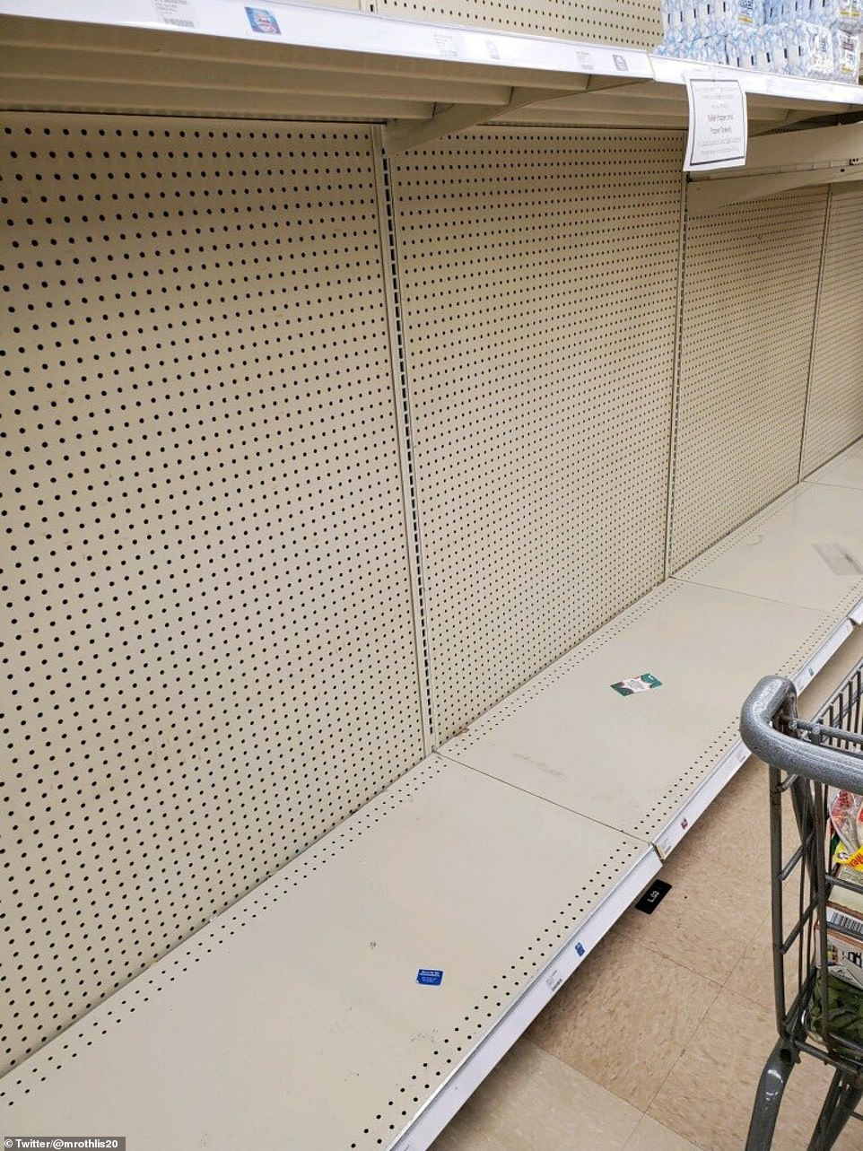 Ohio:It is the second time this year that shoppers appear to be panic buying; stores were left scrambling to restock shelves wiped out in response to COVID-19 back in March