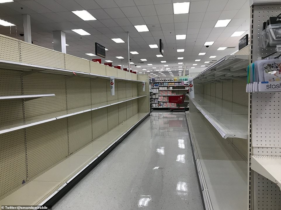 New York:As governors acted there were local reports of panic buying beginning in stores across the country