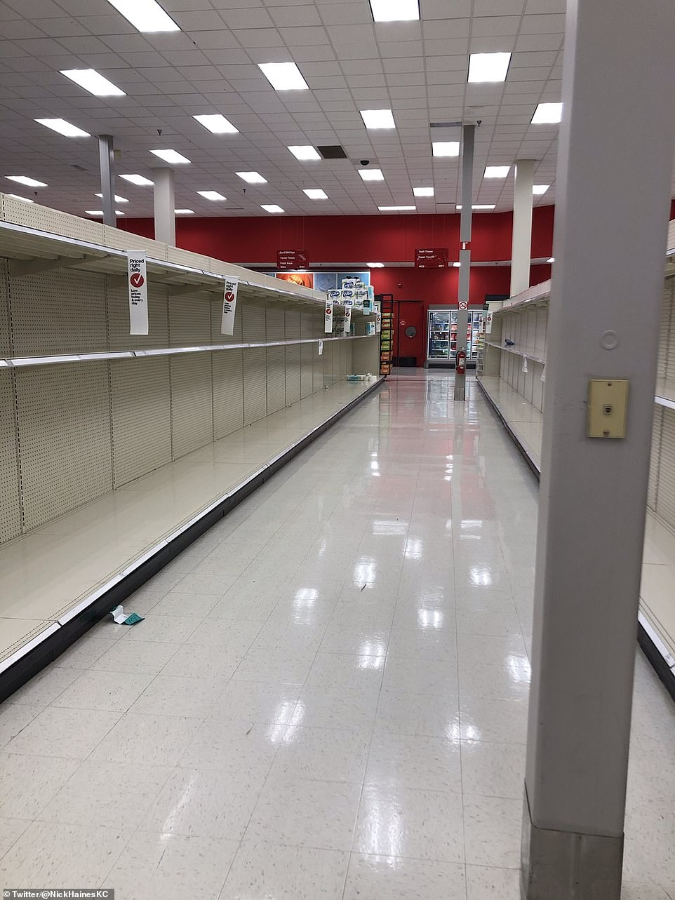 Kansas City: Companies like Walmart, Target and Wegman's curbed store hours for the public in order to give workers time to restock shelves
