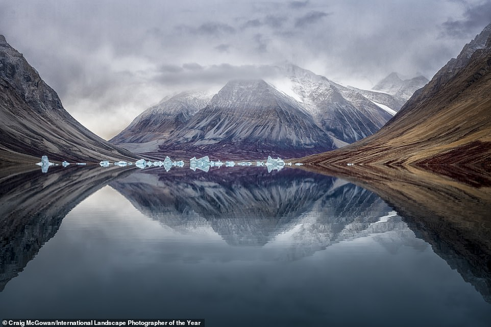 A serene shot ofNortheast Greenland National Park by photographer Craig McGowan. It was among the 101 top images as picked by the judges. Craig called the shot Fjord Head