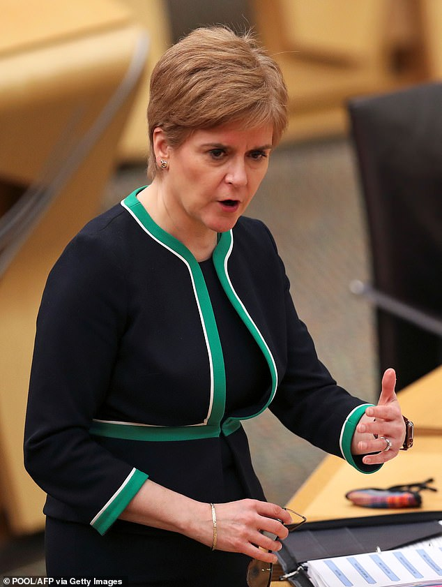 Boris Johnson has called Scottish devolution a disaster. Nicola Sturgeon (pictured) announced 11 local authority areas are being moved into the toughest coronavirus level from Friday