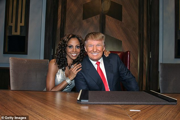 "'There was a moment where [Trump] was talking with producers and they're really animated and that was when I heard that he said, ""They want the n-word to win,""' Peete said. Peete and Trump pictured in the final episode of Season Three of the Celebrity Apprentice on May 23, 2010"