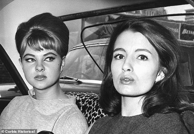 Keeler with her friend Mandy Rice-Davies; the pair became embroiled in one of the biggest political scandals British politics has ever seen in 1961 when they partied with London osteopath Stephen Ward and his high society friends - including John Profumo