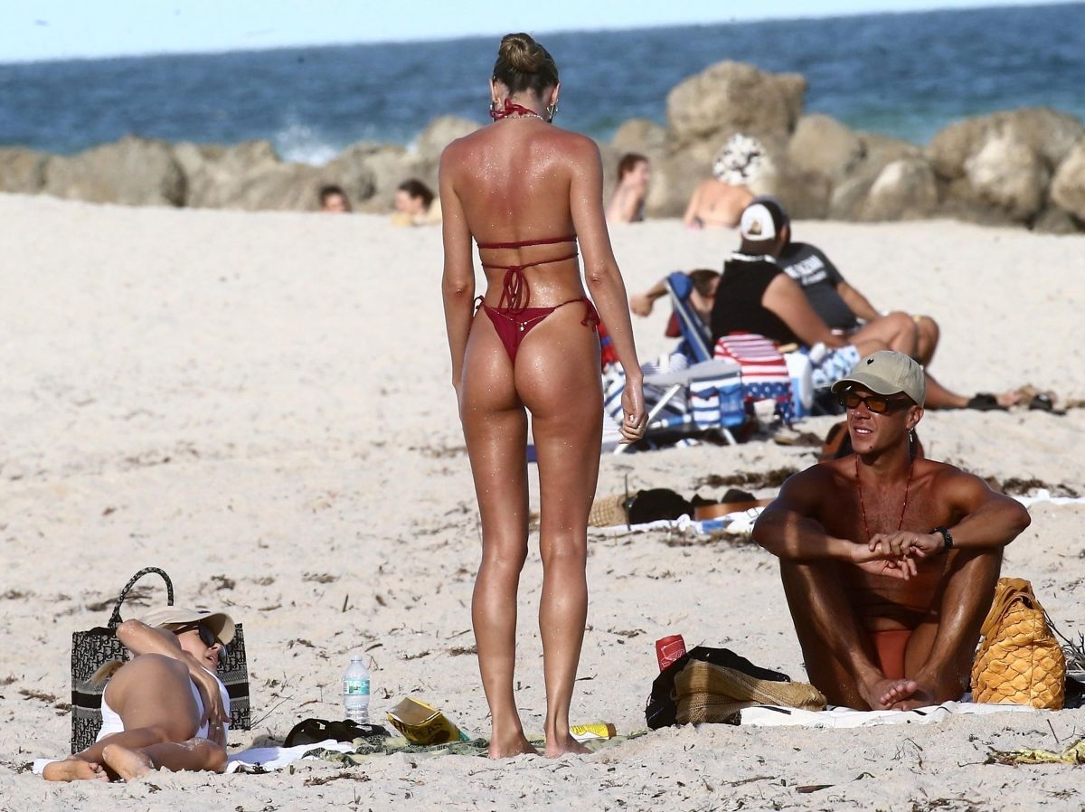 With a tiny red bikini, Candice Swanepoel left everyone stunned in Miami | The State