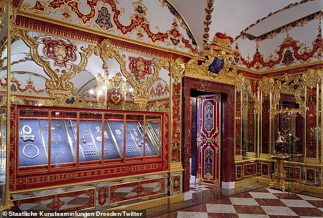2019: A room in the Green Vault in Dresden where priceless items which once belonged to Augustus of Saxony was burgled last year in what authorities suspect was the latest in the Remmo crime family's list of spectacular thefts