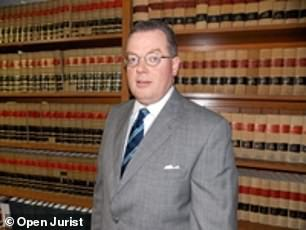 Hot seat: U.S. District Judge William Brann ran the hearing and ended by directing Giuliani to the nearest martini bar