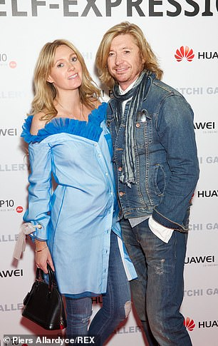 Hairdresser Nicky Clarke and his wife Kelly Simpkin