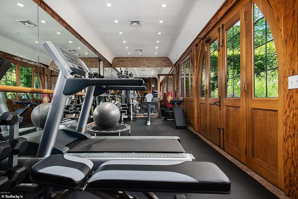Working out:The home currently has a gym with plenty of space for whatever equipment is desired