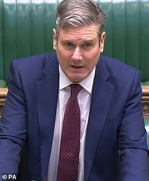 The Wansbeck MP, an ally of Mr Corbyn, also hit out at the treatment of the former Labour leader - accusing Sir Keir (pictured) of pursuing a 'political and personal vendetta'