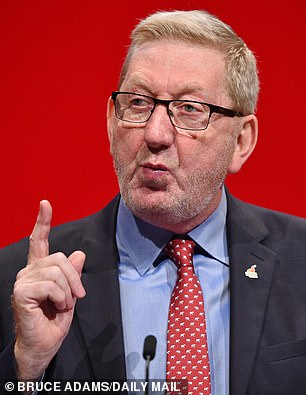 The head of the Unite union, Len McCluskey, who is one of Mr Corbyn's closest political allies, called the decision 'vengeful'