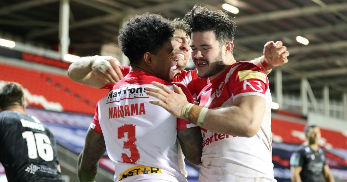 Kevin Naiqama hat-trick helps St Helens set up Wigan Grand Final showdown