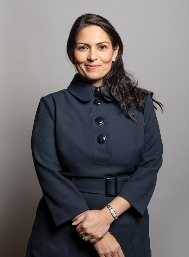 An official report declared that Home Secretary Priti Patel (pictured) is a bully