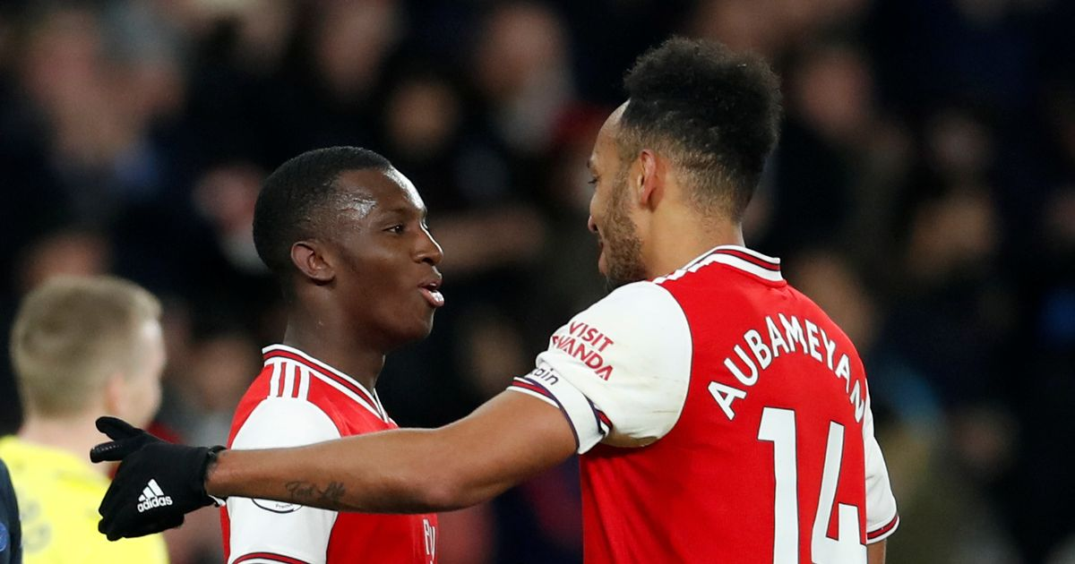 Nketiah opens up on 'dog-eat-dog' relationship with Arsenal strike partners