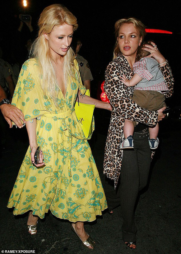 Retail therapy: Paris and Britney went Christmas shopping together in 2006 with Britney's sonSean Preston Federline, who she shares with her ex-husband, Kevin, 42