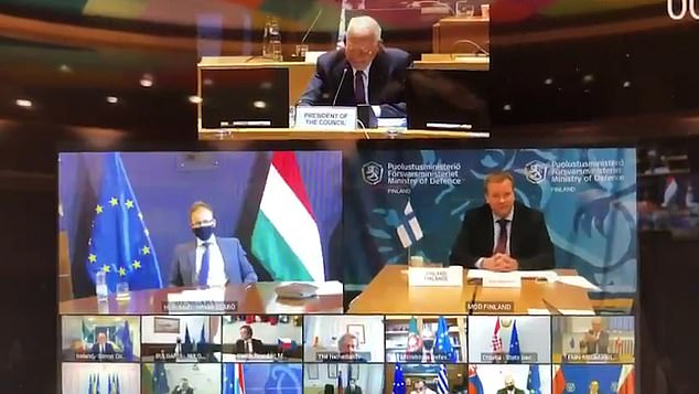 The meeting was quickly ended and a Foreign Affairs Council spokesman told RTL: 'Such a breach is illegal and will be reported to the authorities'