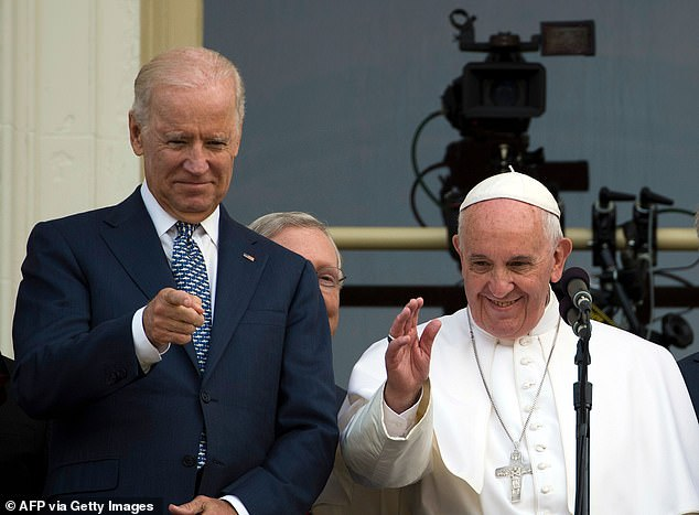 Catholics overall supported the former vice president in the 2020 election, securing Biden 52 percent of the vote compared to Trump's 47 percent