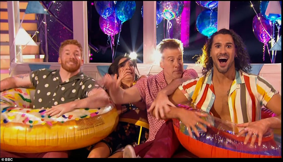 Kicking off: The pros danced in a pre-taped routine, paying homage to the seaside town