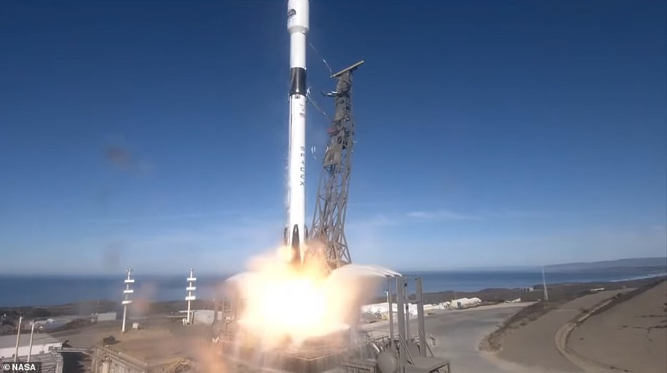 The rocket was carrying a joint American-European satellite that will monitor ocean levels over the next three decades