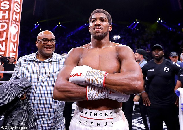 Anthony Joshua (pictured) may be a potential name to take on Tyson in a future exhibition